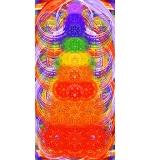 stora toalla Chakras 80x160cm microfibra/Algodón