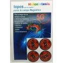 Topos 5G pulso & campo Magnético x 4